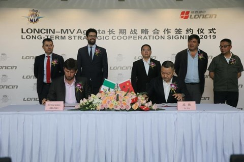 MV Agusta mit Partner aus China