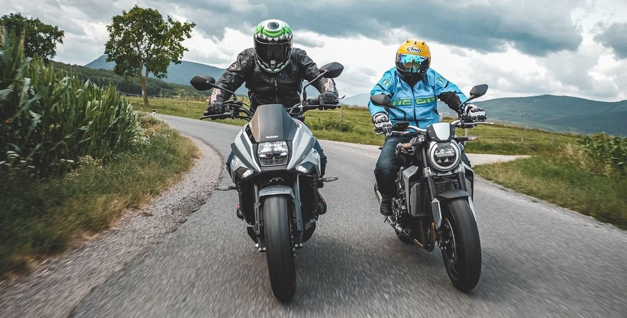 Honda CB1000R+ vs. Suzuki GSX-S1000S Katana Test, Preis, Fazit