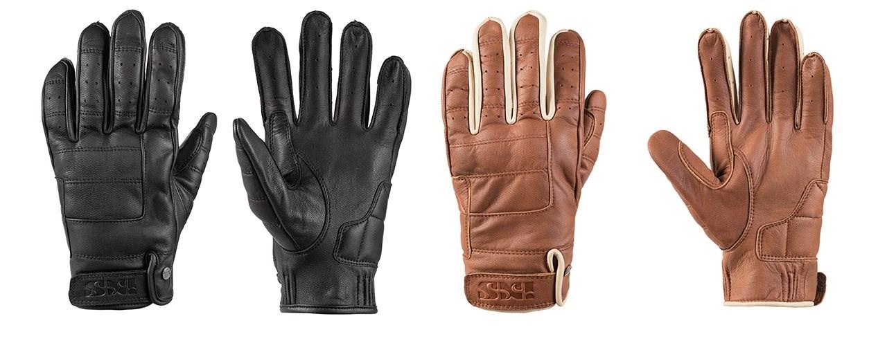 Moderne Motorrad Handschuhe aus Leder im Vintage Look