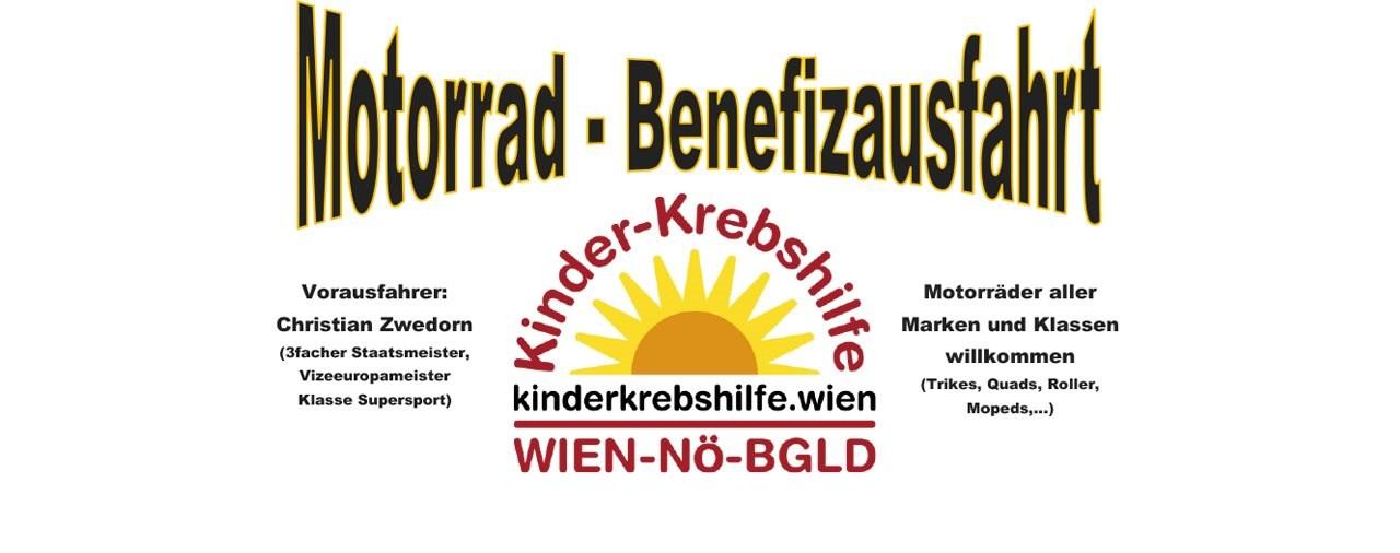 Motorrad-Benefizausfahrt mit 3-fachem Staatsmeister am 15.Sept