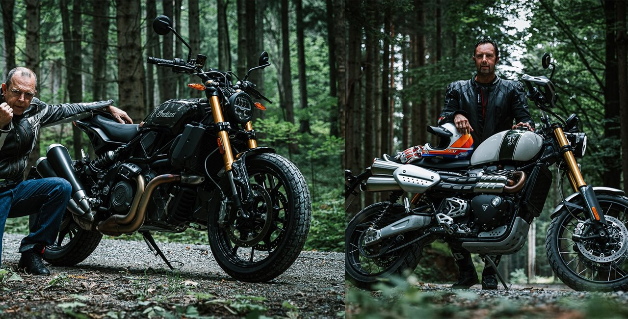 Indian FTR 1200 S vs. Triumph Scrambler 1200 XE Test 2019
