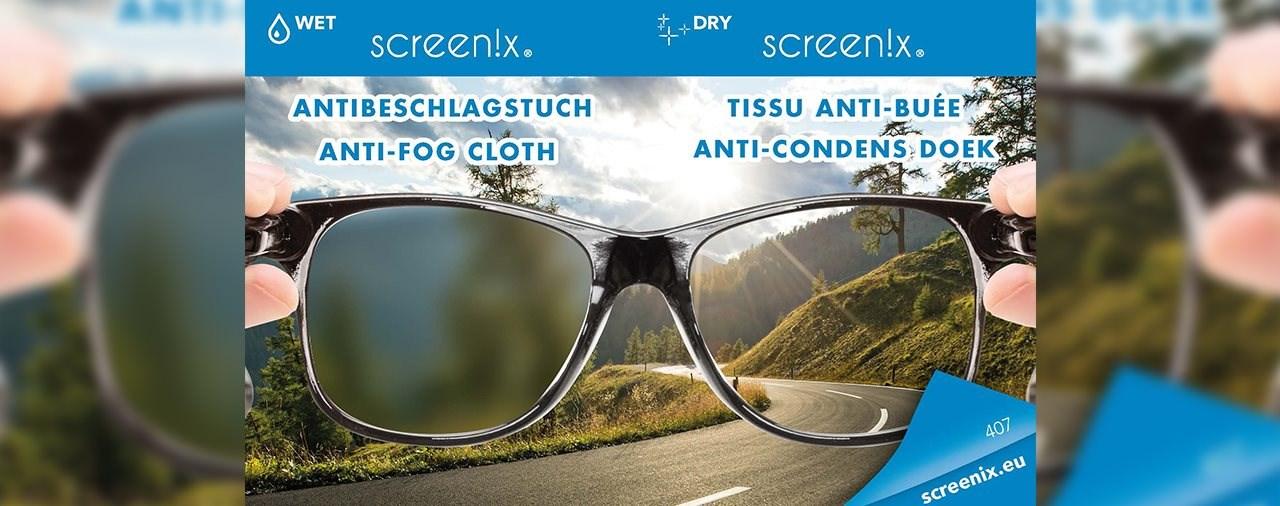 Screen!x Antibeschlagtuch gegen beschlagende Visiere