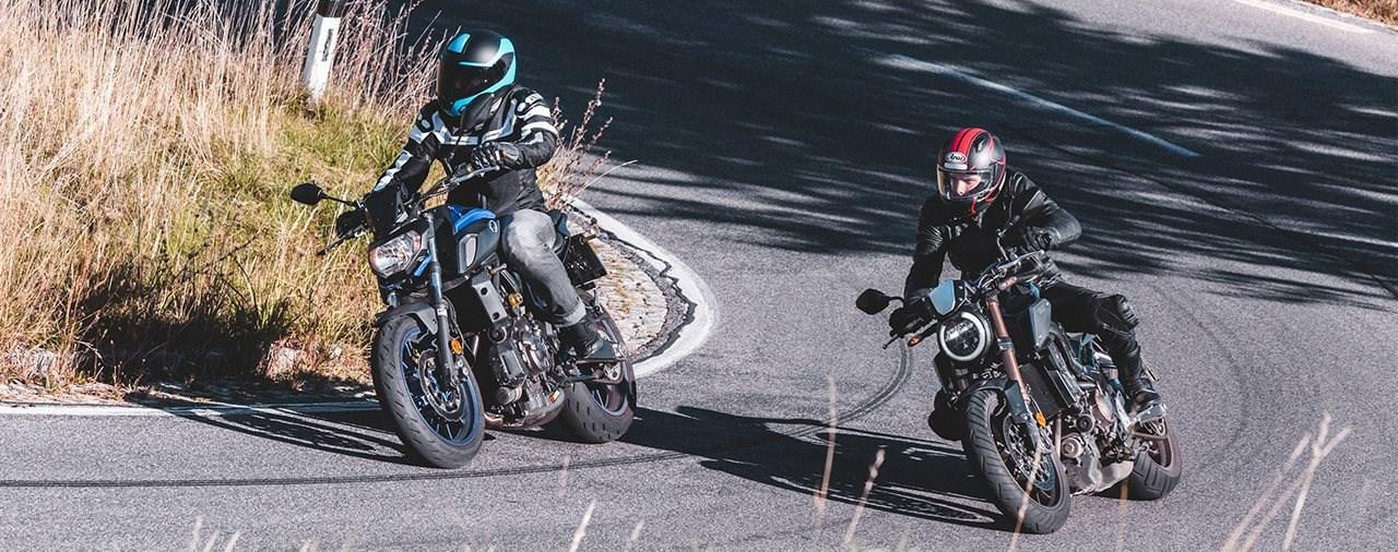 Yamaha MT-07 SP vs. Honda CB650R Vergleich