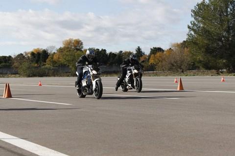 BMW E-Motorrad Prototyp - erster Test