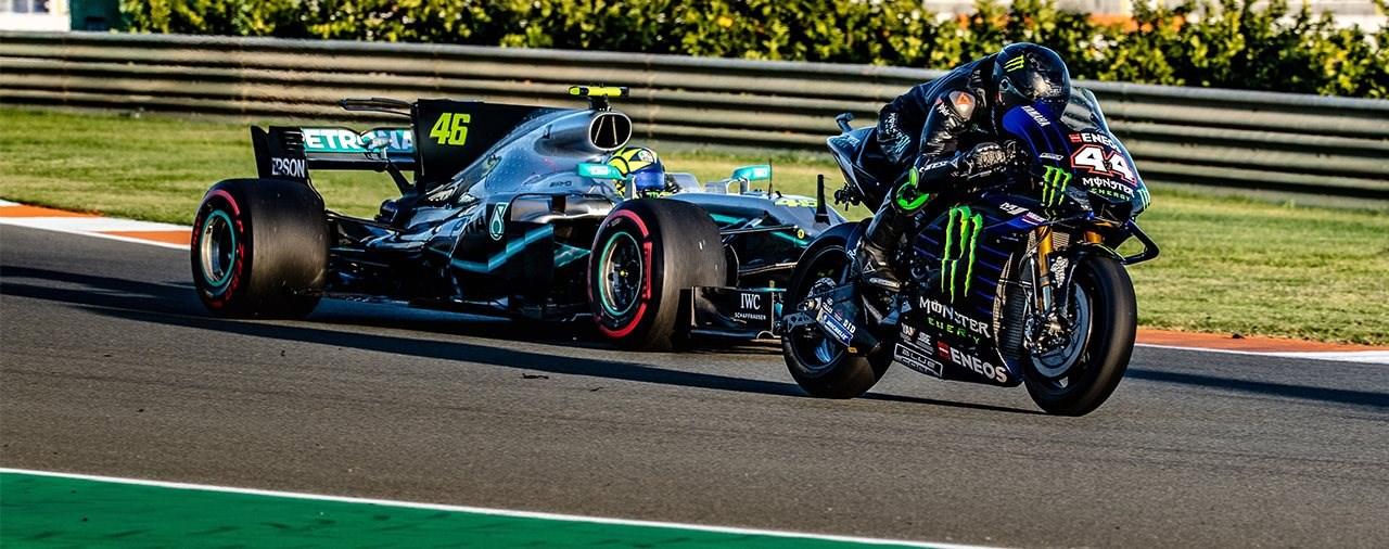 Valentino Rossi zurück im Formel 1 Auto