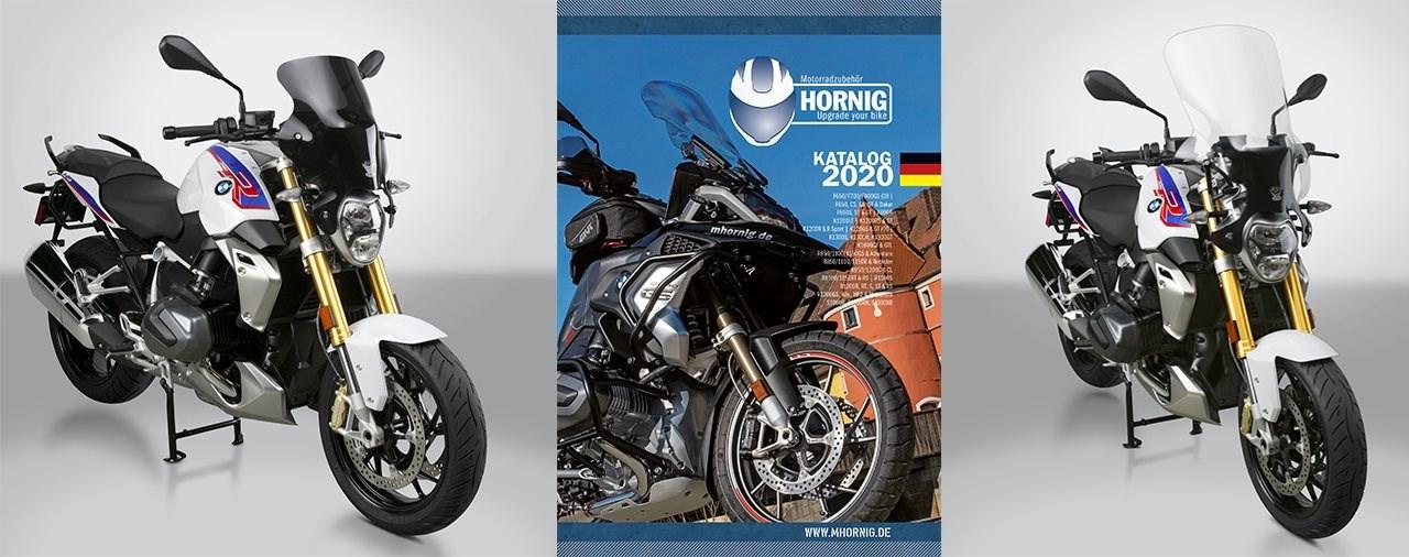 Z Technik Windschild für BMW R1250R und neuer Hornig Katalog 2020