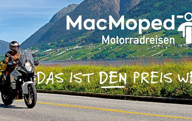 MacMoped – die neue Marke für preiswerte Motorradreisen