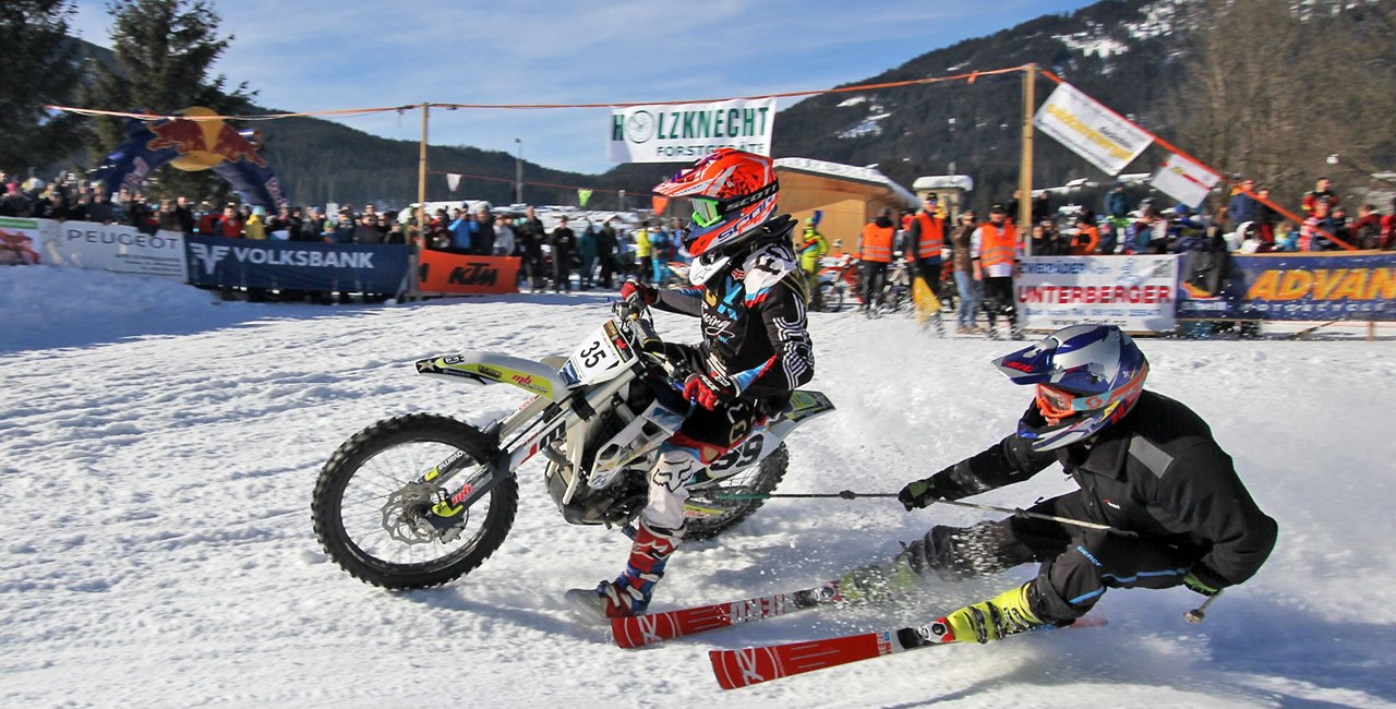 8. Holzknecht-Skijöring in Gosau am 8.2.2020