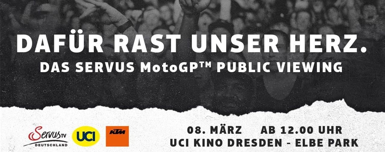Servus MotoGP Public Viewing in Dresden am 8. März 2020
