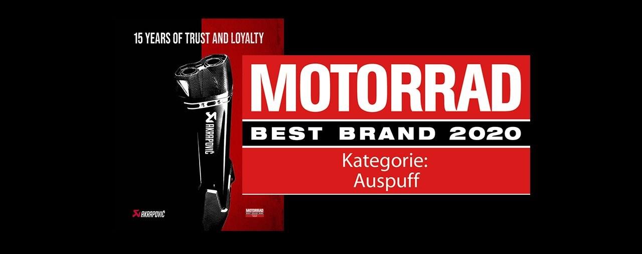 Akrapovic ist Best Brand 2020!