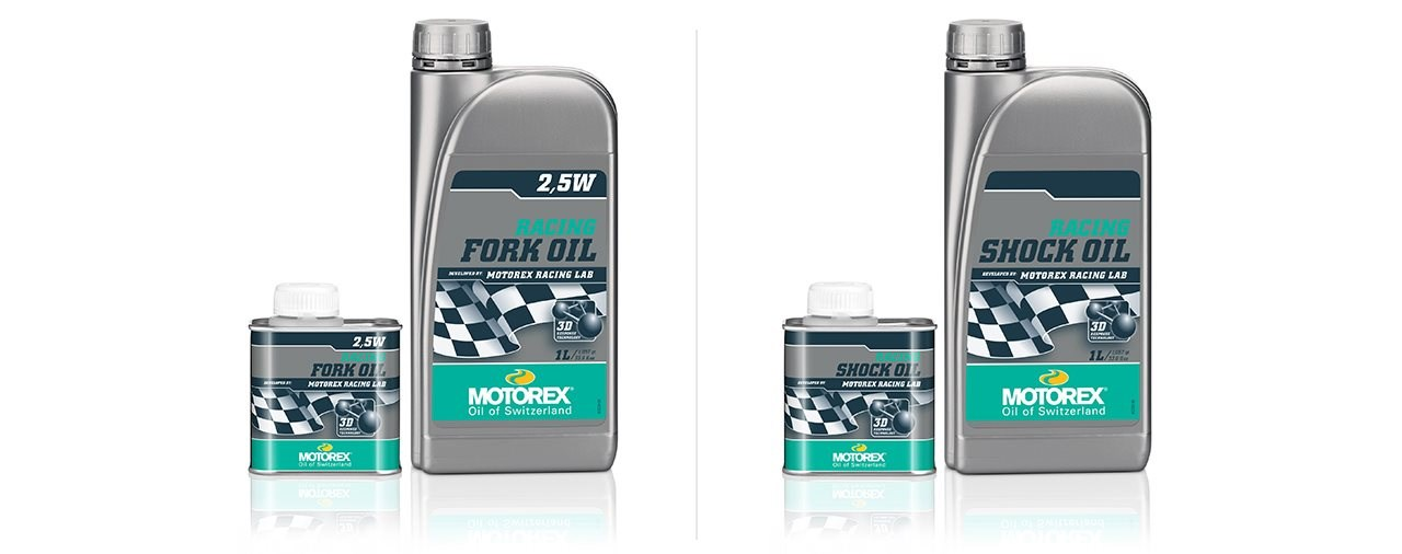 250ml Gebinde für MOTOREX RACING SHOCK OIL und RACING FORK OIL