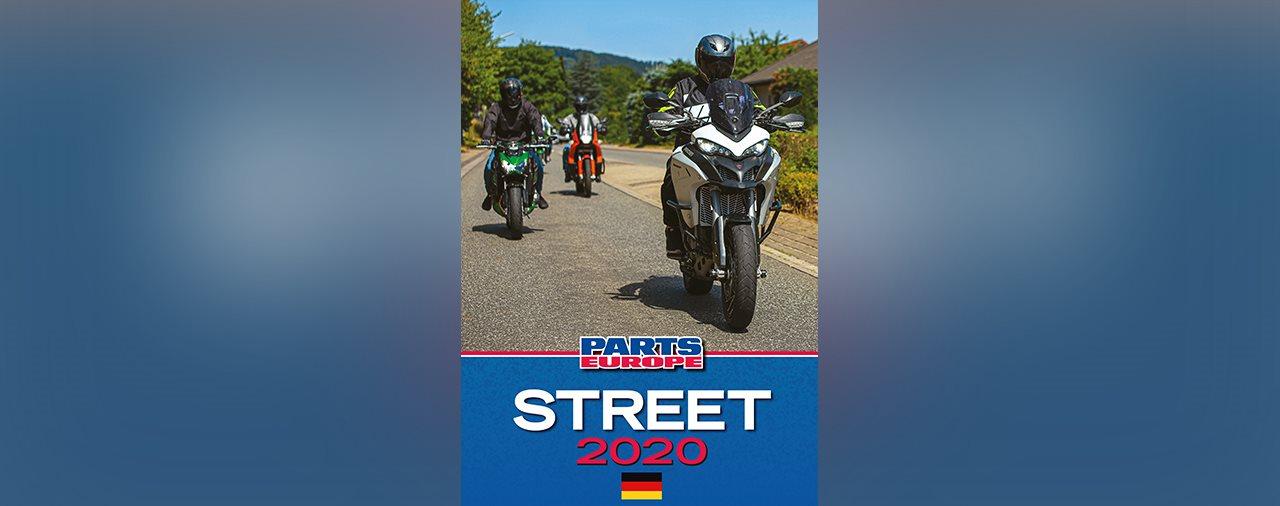 Der STREET Katalog 2020 von PARTS EUROPE ist hier Motorrad