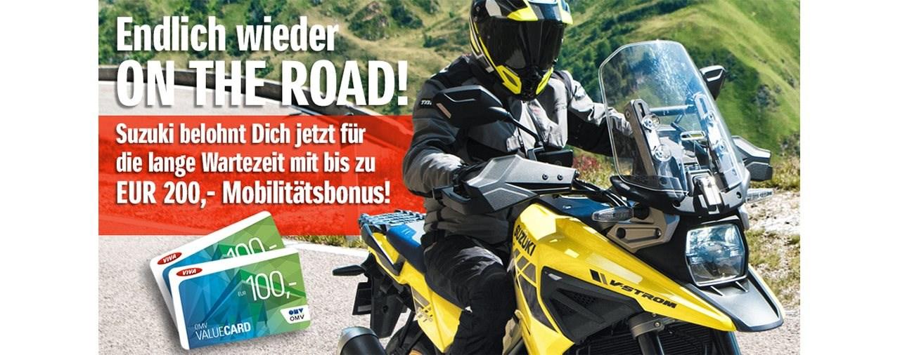 Suzuki Motorrad schenkt dir bis zu 200 Euro in Tank-Gutscheinen!