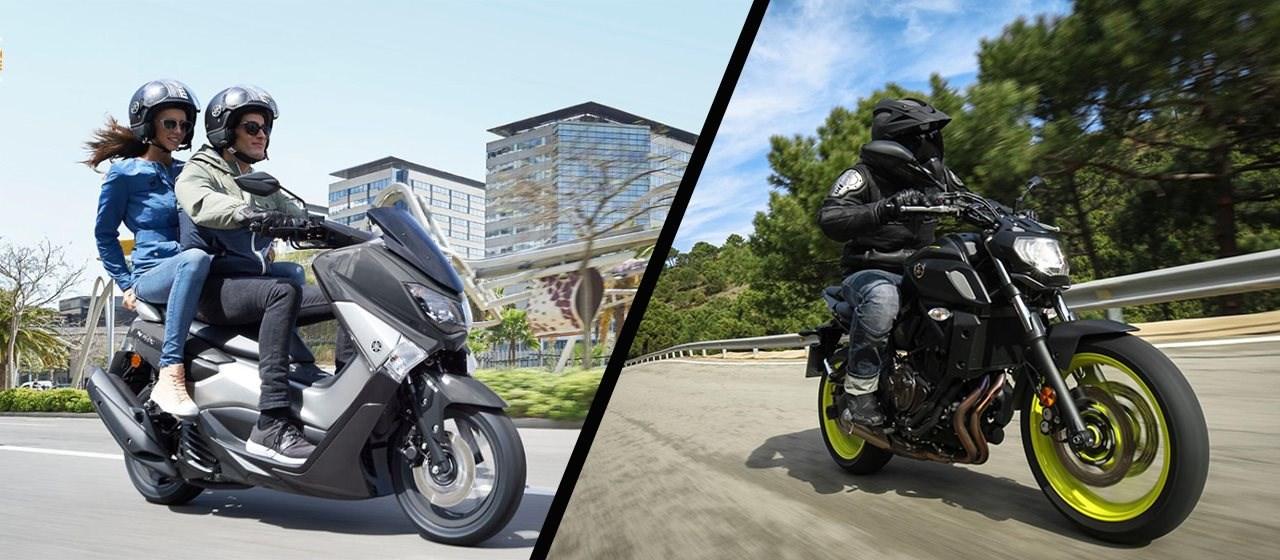 Die Yamaha NMAX 125 und MT-07 Drittel-Finanzierung