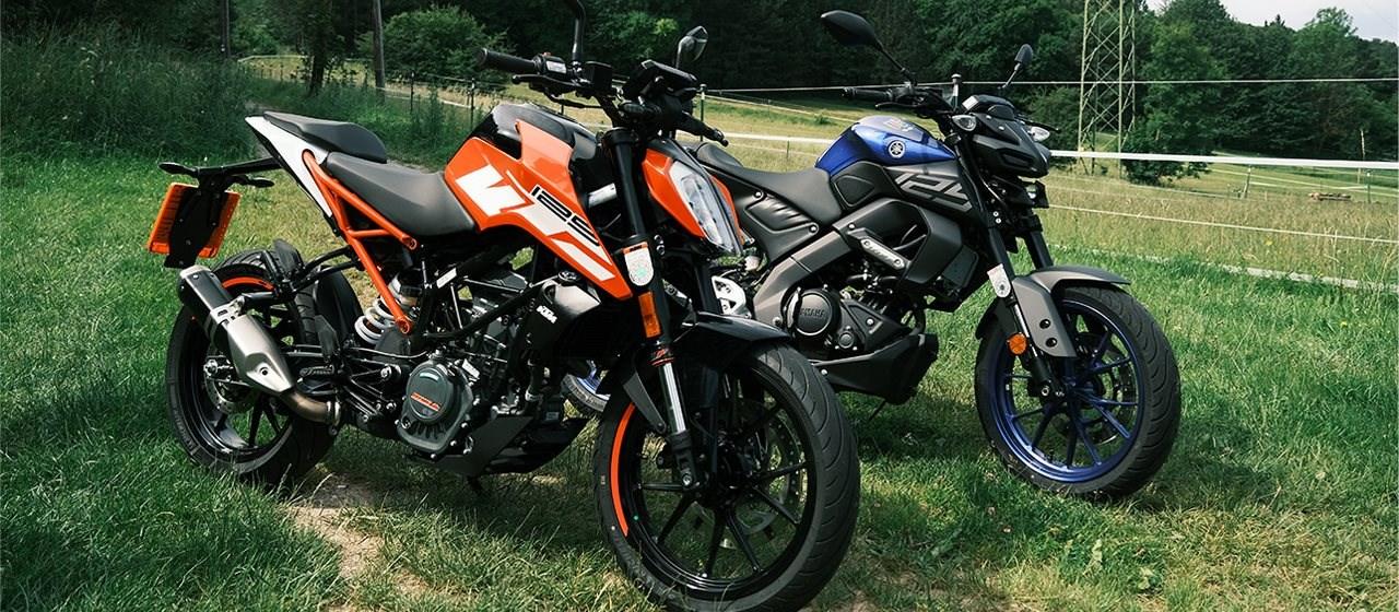 KTM Duke 125 gegen Yamaha MT 125