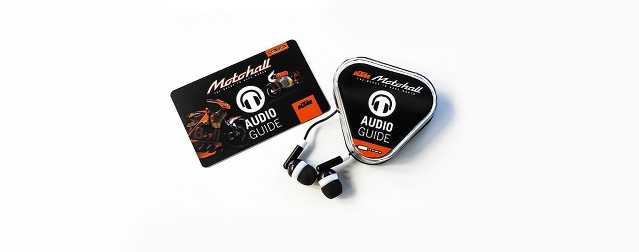 KTM Motohall bietet nun Audioguides an