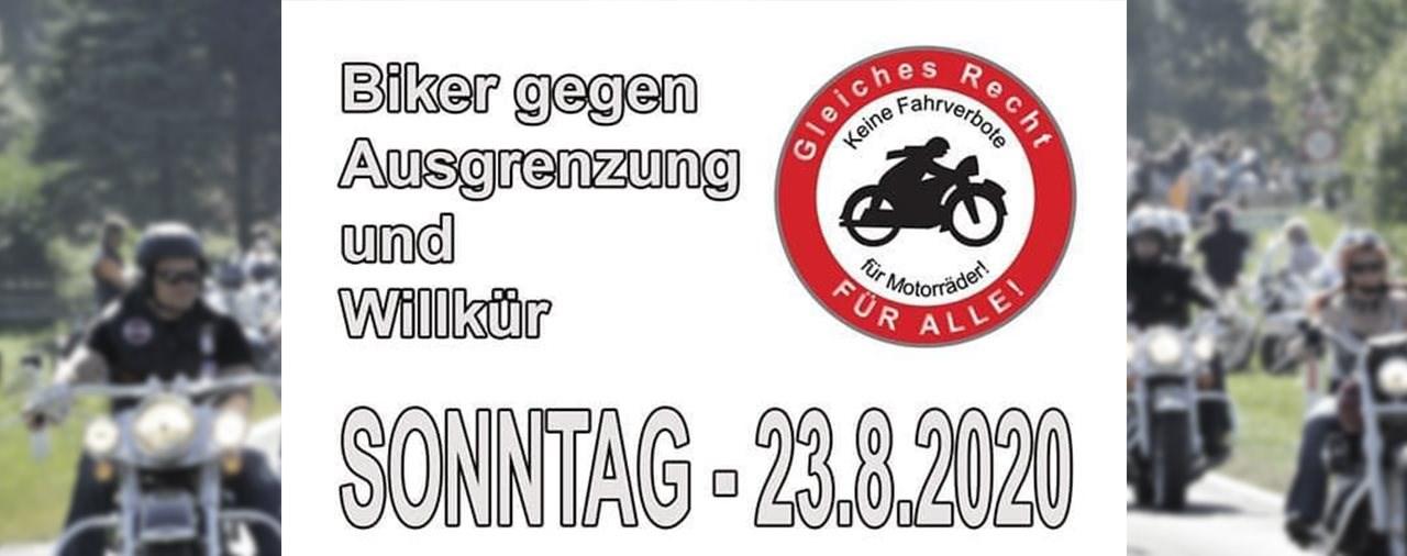 Biker gegen Ausgrenzung und Willkür am 23. August 2020