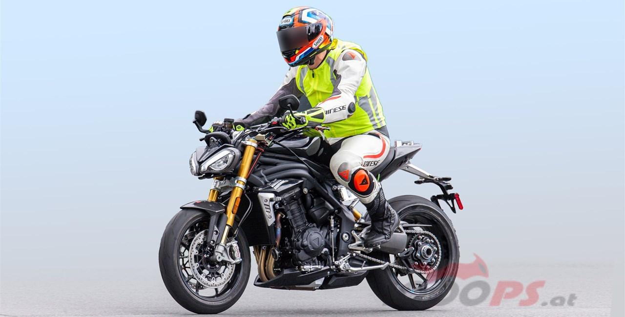 Erlkönig der Triumph Speed Triple 2021 gesichtet