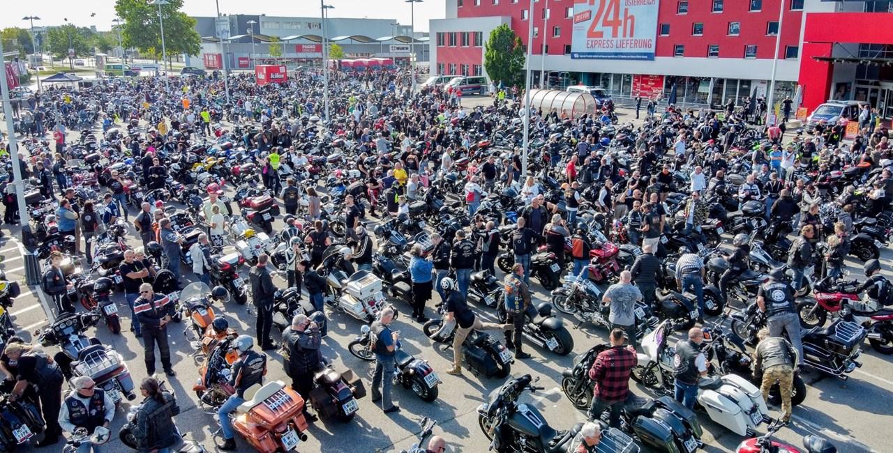 Große Motorraddemo in Wien war ein voller Erfolg