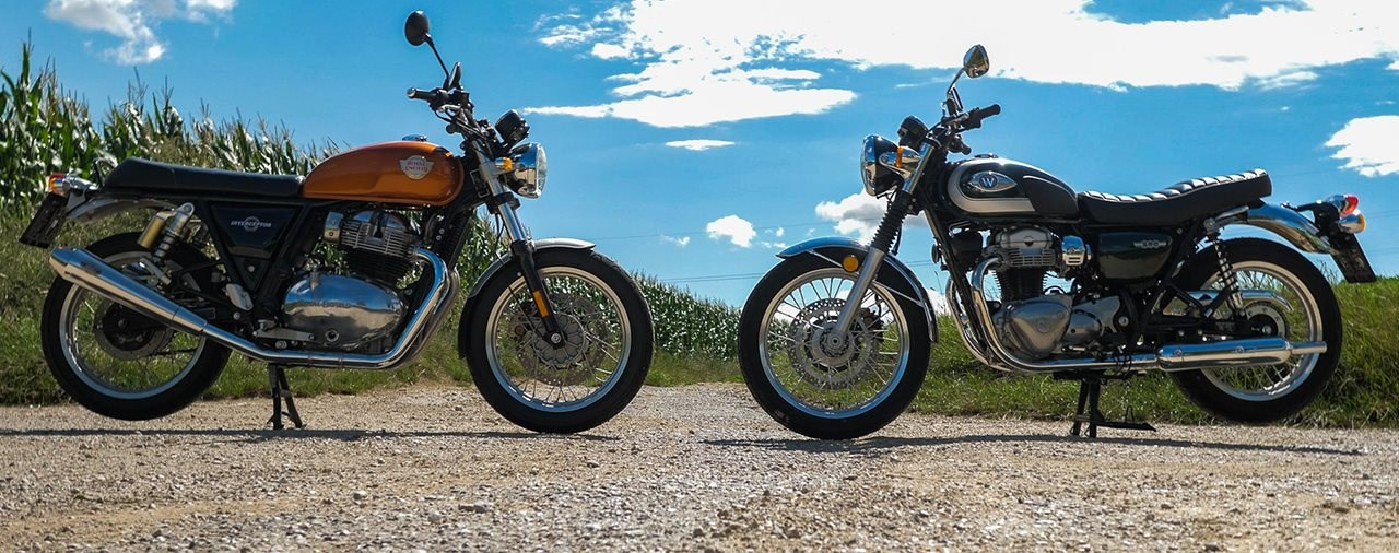 Royal Enfield Interceptor 650 vs. Kawasaki W800 - Vergleich 2020