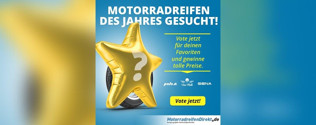MotorradreifenDirekt.de sucht den Reifen-Europameister 2020