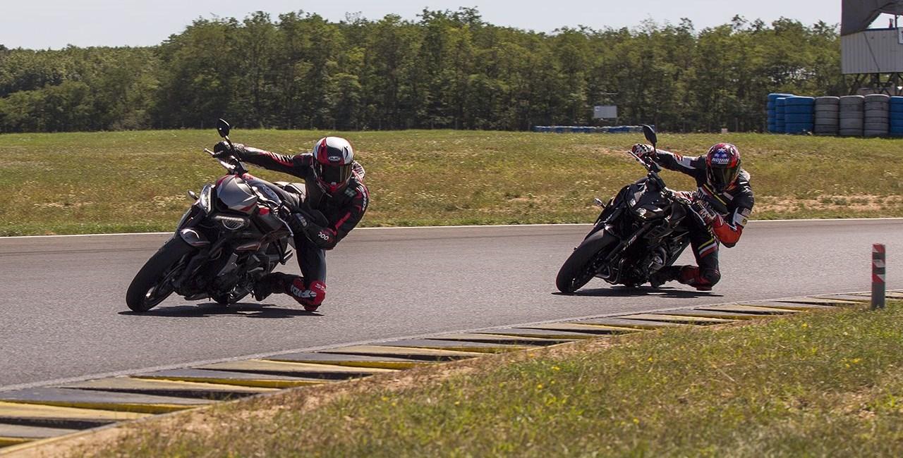 Triumph Street Triple R und Yamaha MT-09 WP im Tracktest