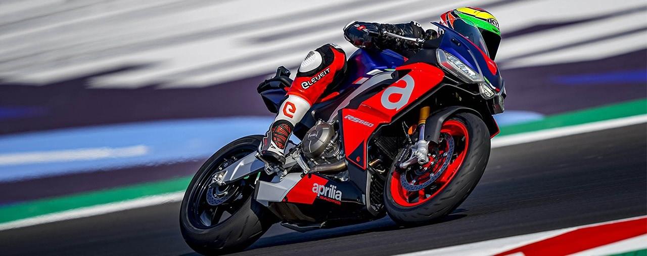 Aprilia RS 660 2020 unterwegs am MotoGP Kurs in Misano