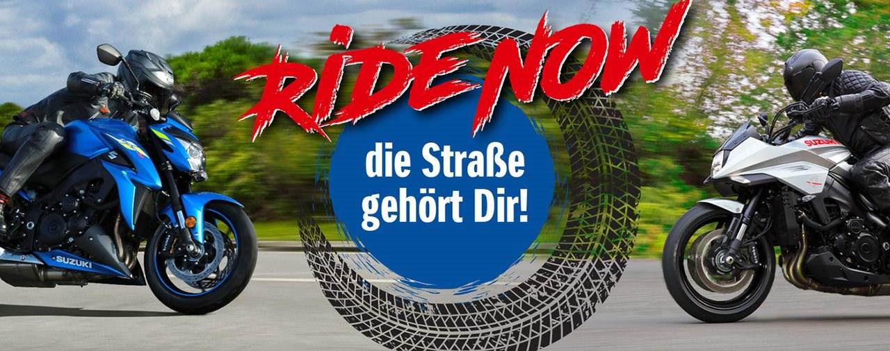 """Suzuki Abverkauf-Aktion """"Ride Now"""""""