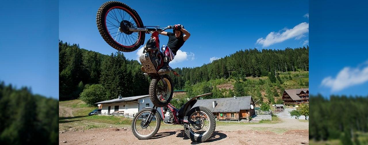 Trial fahren in der West-Steiermark/Österreich
