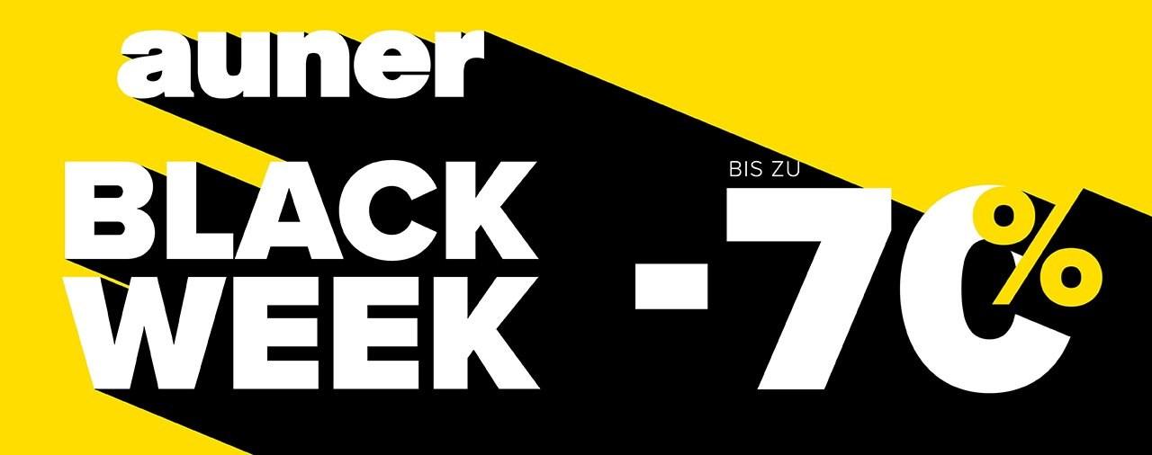 BLACK WEEK von 23. bis 30. November 2020 bei auner!