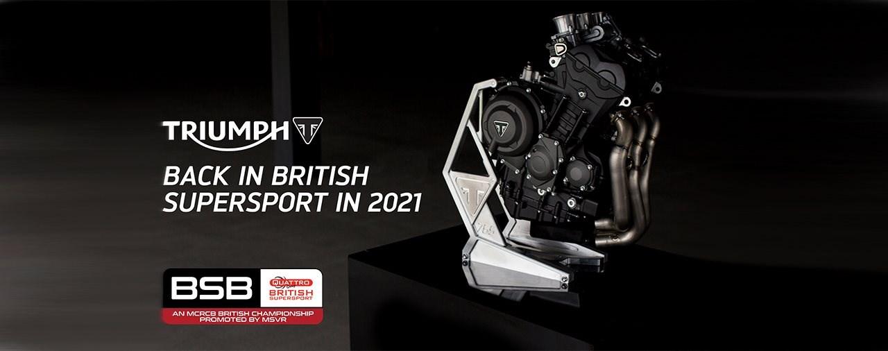 Triumph ab 2021 in der britischen Supersport-Meisterschaft