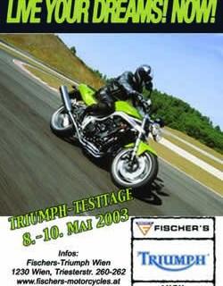 Triumph Testtage 8.-10. Mai 2003