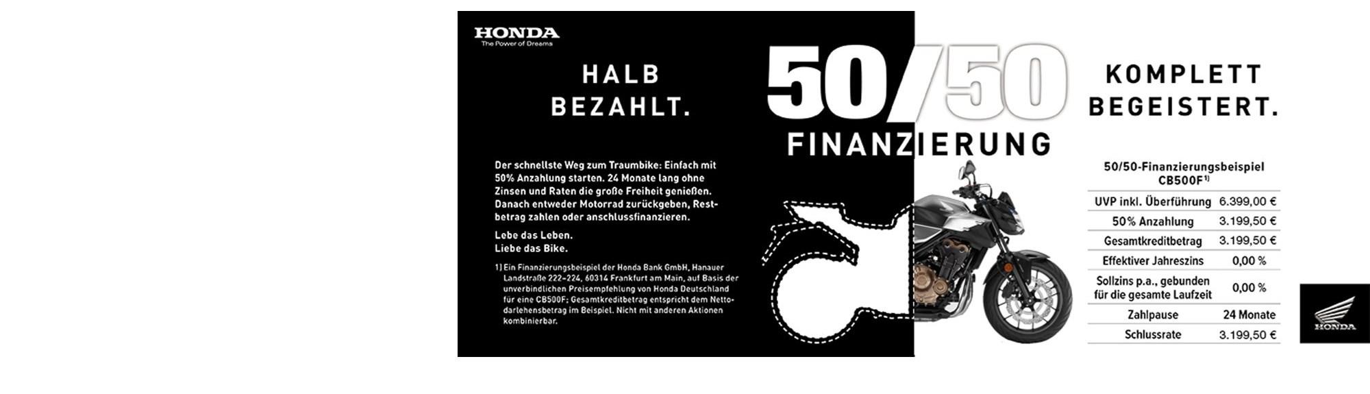 50-50 Finanzierung