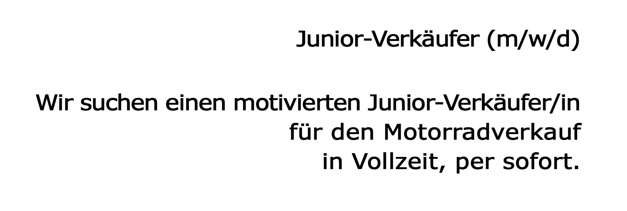 Junior-Verkäufer
