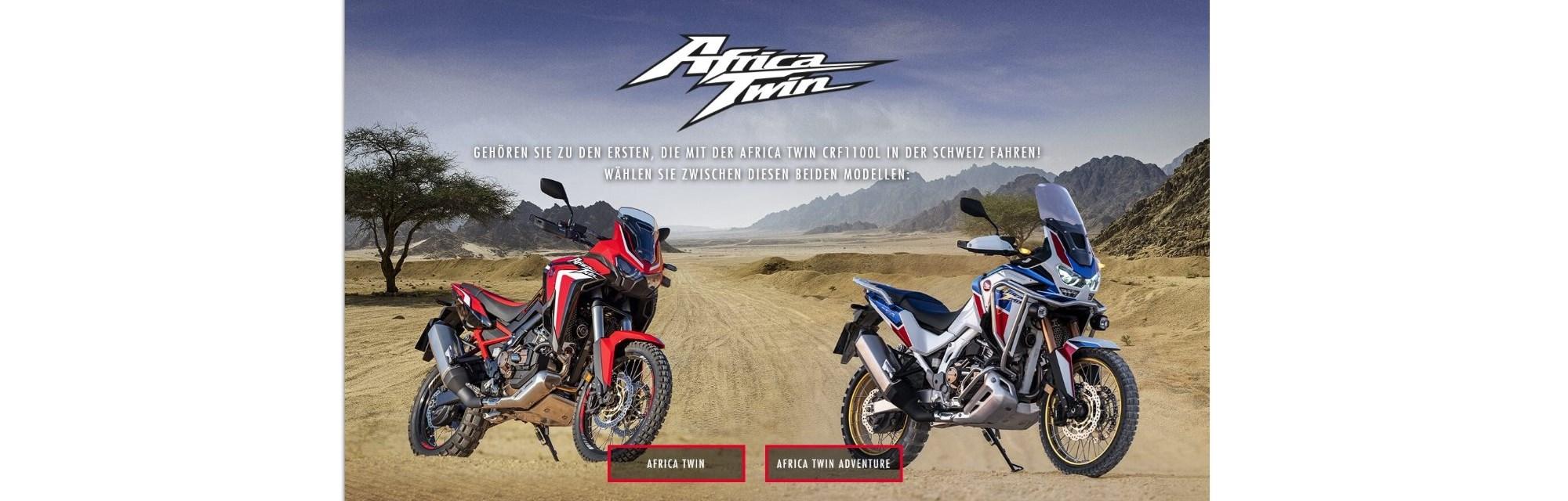 Die neuen Africa Twin Modelle 2020 jetzt vorbestellen. Bereits ab 15'730 CHF