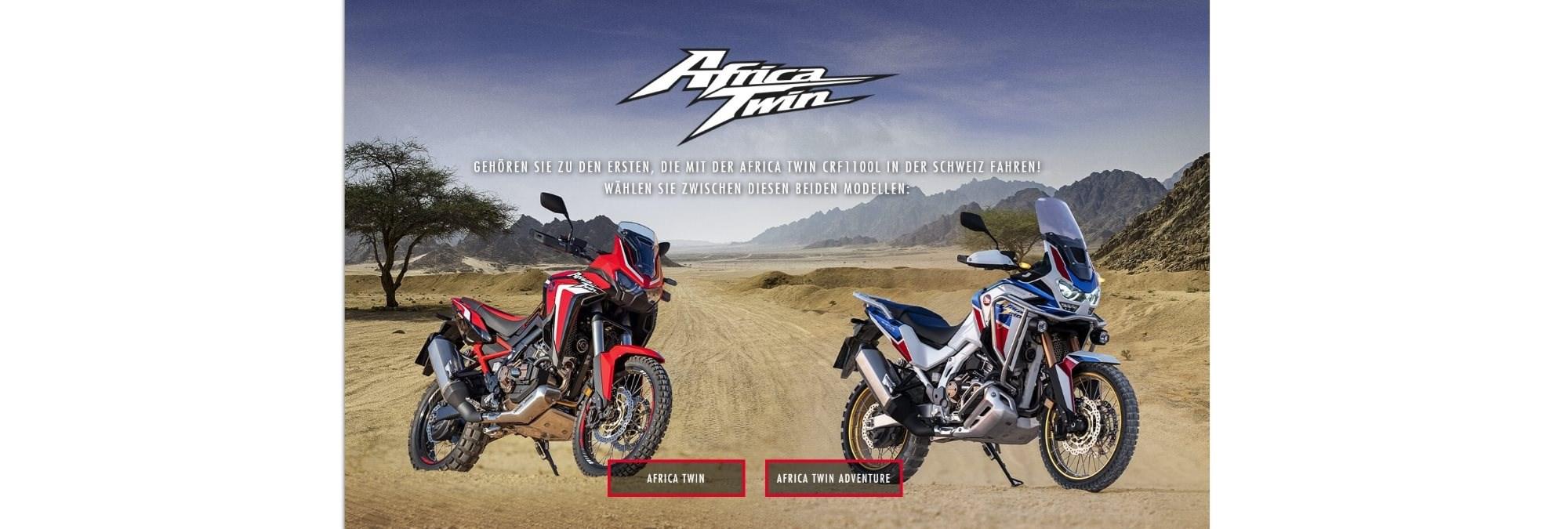 Die neuen Africa Twin Modelle 2020