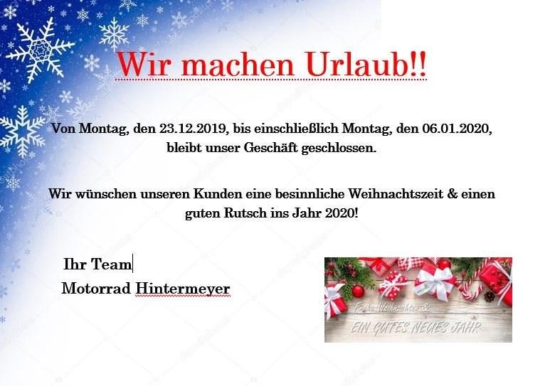 Wir machen Weihnachtsurlaub! Mobile Version