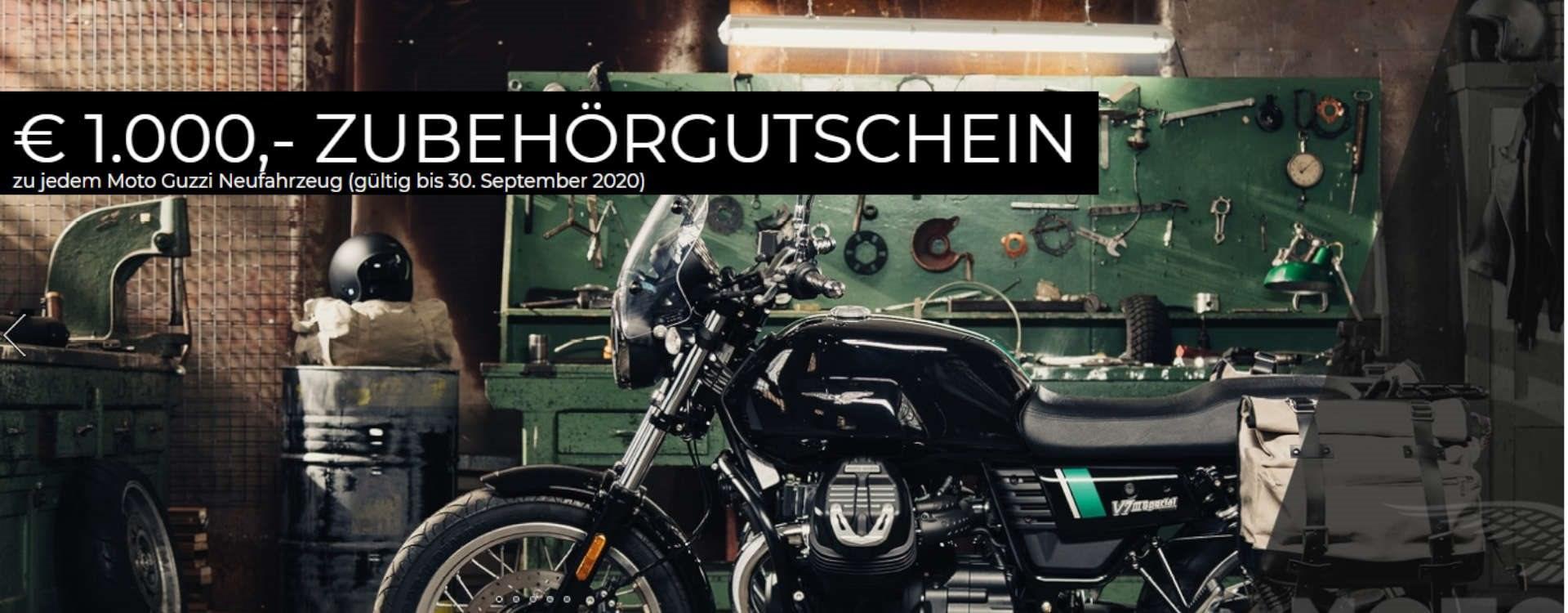 zu jedem Moto Guzzi Neufahrzeug (gültig bis 30. September 2020)