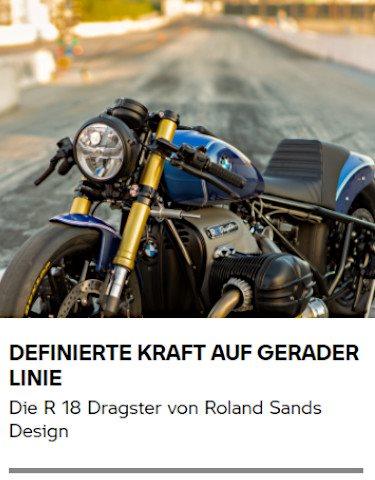 Die R 18 Dragster von Roland Sands Design