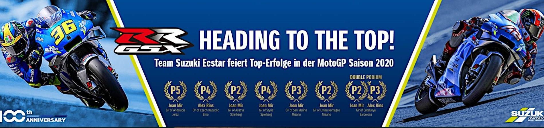 Team Suzuki Ecstar feiert Top-Erfolge in der MotoGP Saison 2020