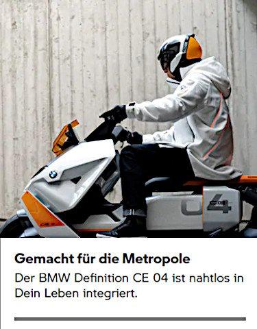 Der BMW Definition CE 04 ist nahtlos in Dein Leben integriert.
