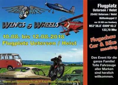Wings & Wheels 10.-12. August in Heist