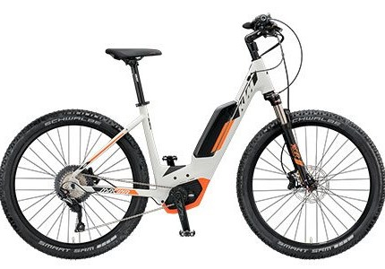 """KTM Macina Scout 271, US 51 Macina Scout 271, US 51, Gr.MMotor: Bosch Drive Unit 36V-250W, 25km/h, Performanceline CX-75NmBatterie: Standard-Powerpack, 13,4Ah-500WhDisplay: Intuvia on- board computer with remoteRahmen: Macina MTB 27,5"""", US (Bosch Gen..."""