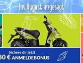 Jetzt Anmeldebonus für dein Moped holen!