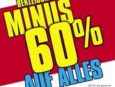 - 60 % auf die gesamte Bekleidung und Zubehör!