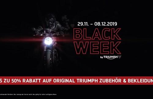 BLACK WEEK BY TRIUMPH - BIS ZU 50% RABATT AUF ORIGINAL ZUBEHÖR & BEKLEIDUNG*