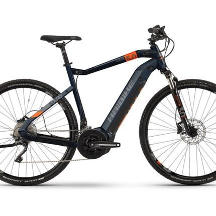 "Haibike SDURO Cross 5.0, HE 52cm, Gr.M, blau/orange/titan SDURO Cross 5.0500Wh, 20-G XT Rahmen:  Aluminium 6061, Scheibenbremse Post Mount Motor: Yamaha PW System, 250W, 70Nm, 25km/h Display: Yamaha Multi Switch 2,8"", TFT, 16 Funktionen Batterie: Yamaha Schnellladegerät 4A Gabel:..."