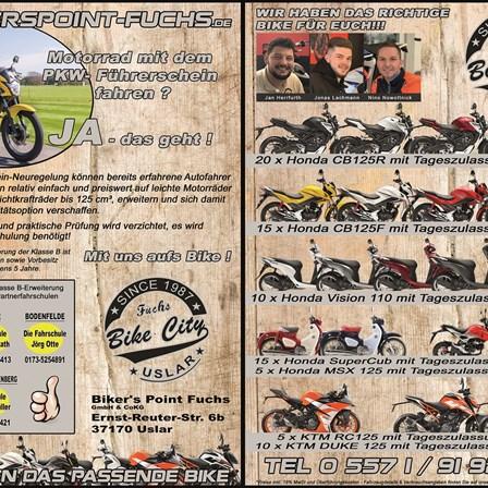Motorrad mit dem PKW-Führerschein fahren?   Ja, das geht!!!
