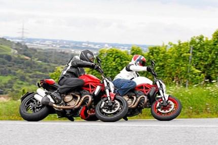 Ducati Monster 821 und Monster 1200 Vergleichstest