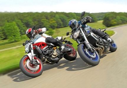 Ducati Monster 821 und Yamaha MT-09 Vergleichstest